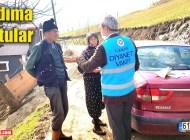Şalpazarı Müftülüğü personeli bir ayda 320 yaşlı vatandaşa yardım etti
