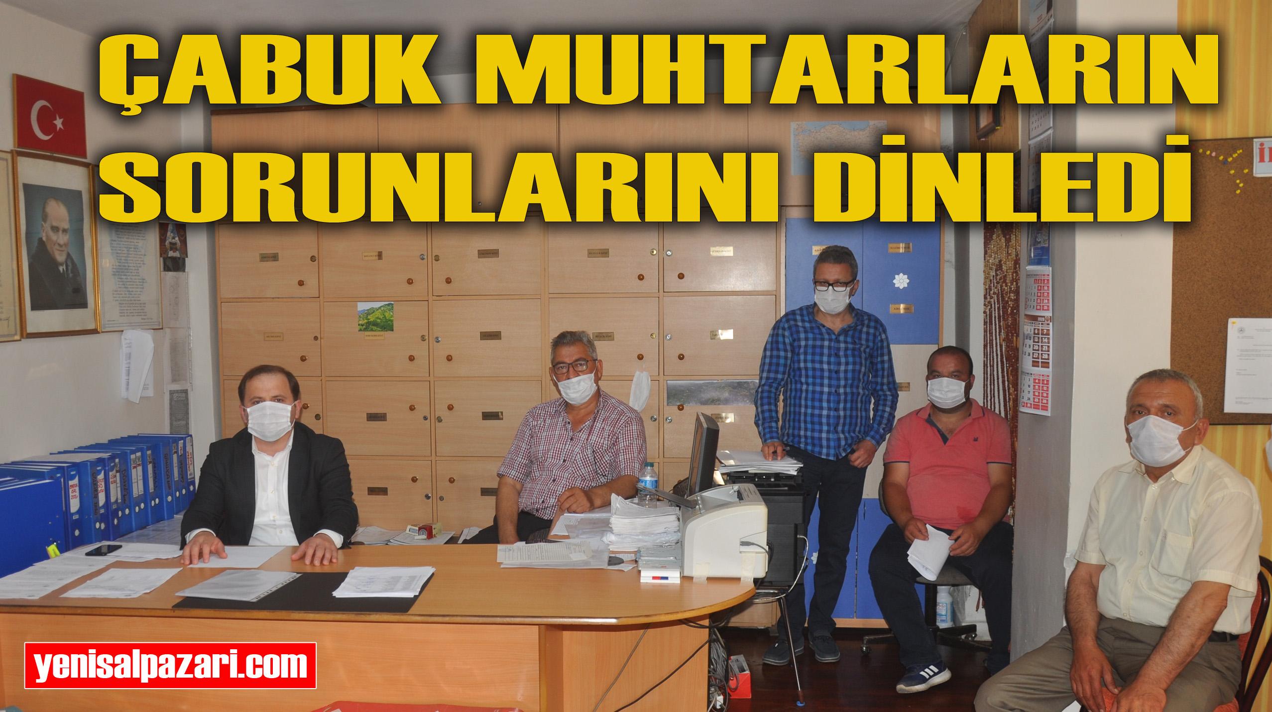 AK Parti İlçe Başkanı Zeki Çabuk Mahalle Muhtarlarıyla bir araya geldi