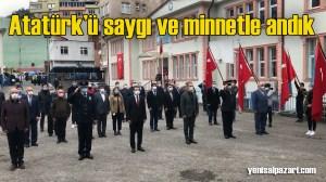 Atatürk'ü vefatının 82. yıldönümünde andık