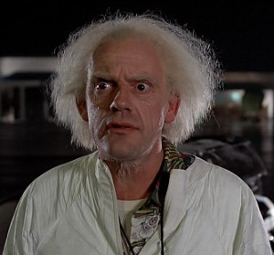 Christopher Lloyd as Doc Emmett Brown