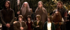 Boromir, a sus compañeros, antes de...