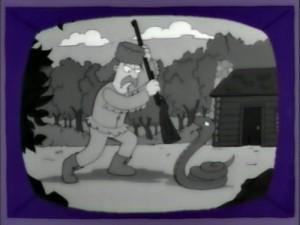 Aquí como se cree que fue la expulsión de las serpientes.