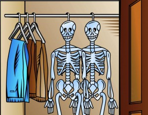 idioms - skeletons in the closet