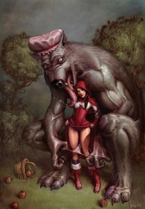 Red riding hood wolf panties