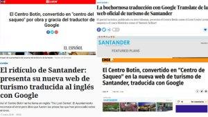 La chapuza de la traducción de la web de turismo de Santander