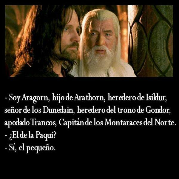 Aragorn hijo de Arathorn meme
