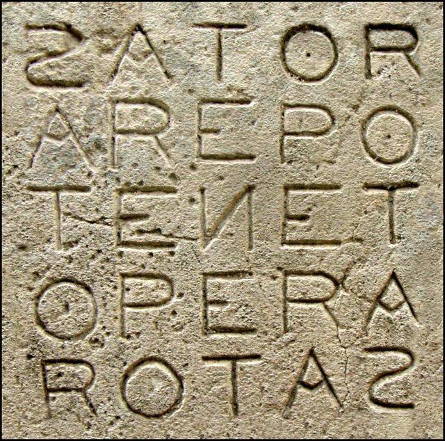 Sator square palíndromos