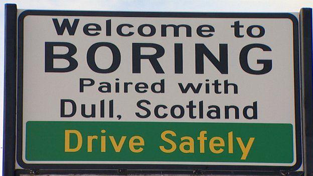 Boring, Oregón Nombres de lugar curiosos en Estados Unidos