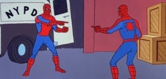 Spiderman reflection meme