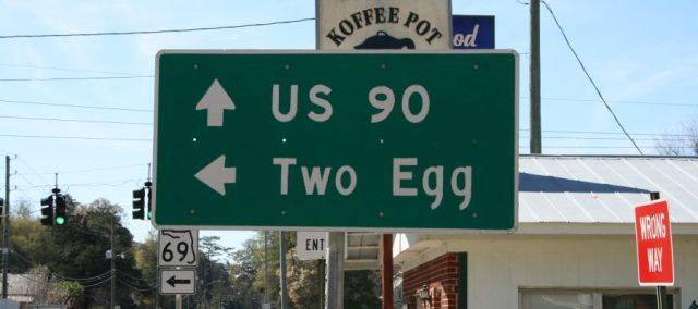 Two Egg, Florida. Nombres de lugar curiosos Estados Unidos