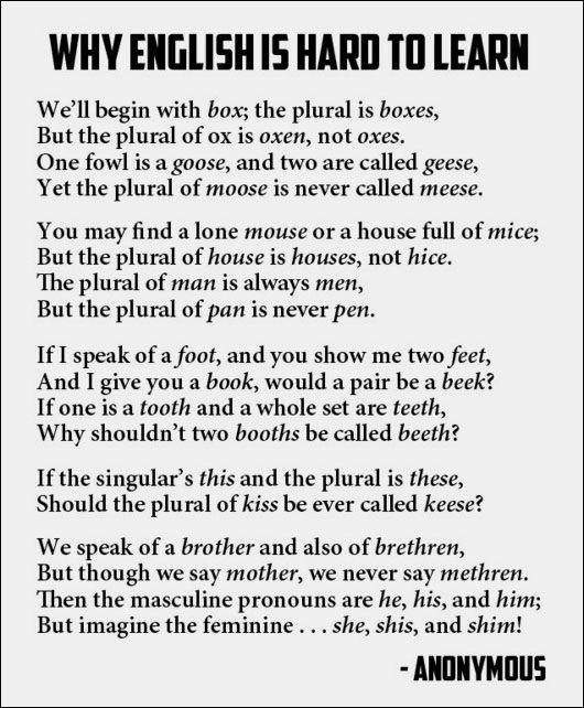 English makes no sense