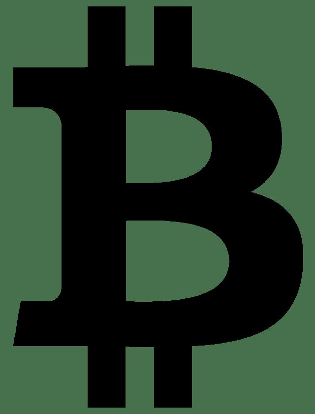 Símbolos monetarios bitcoin