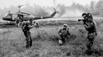 Image result for vietnam images on black and white television