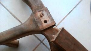 שיפוץ ספה פין שנשבר בתוך החור