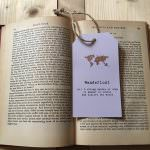 Yesihaveablog | The Writing Room Etsy Store | Wanderlust Luggage Tag Bookmark | Wanderlust Inspired Gifts