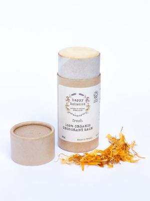 Vegan organic plastic free deodorant