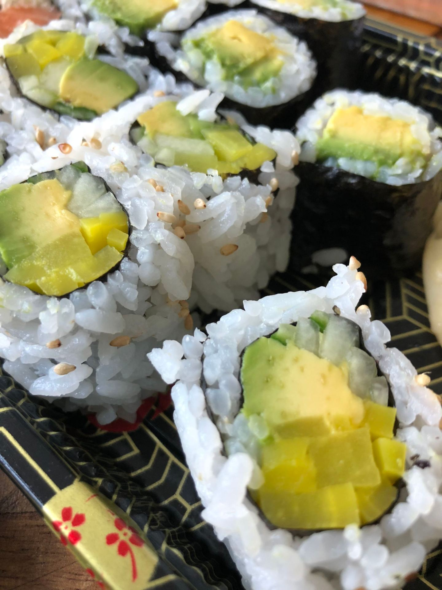 Avocado rolls - How Going Vegan Changed My Life - YesIMadeMyDress