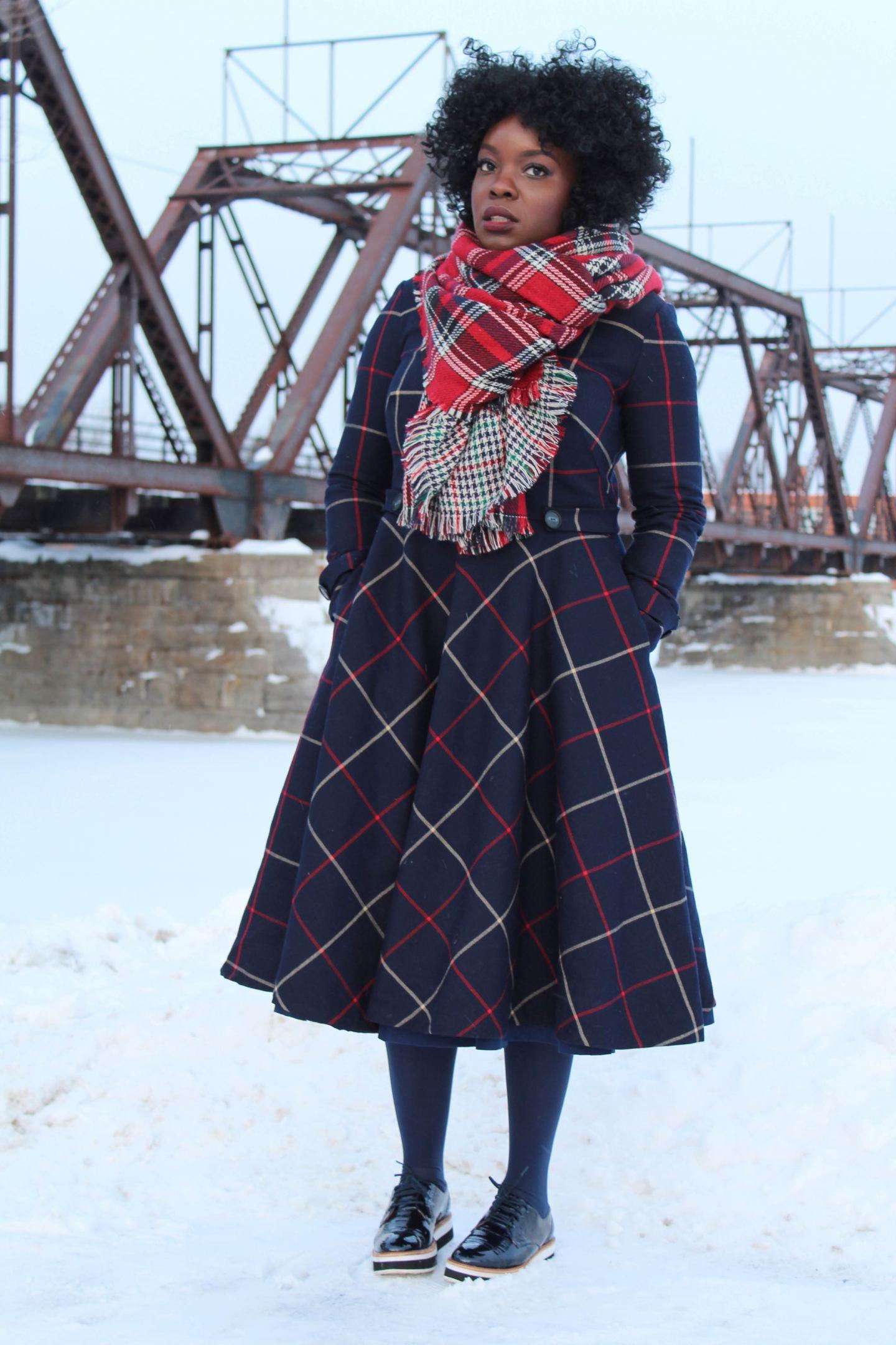 DIY Tweed Dress using Vogue 8615 pattern - Yes I Made My Dress