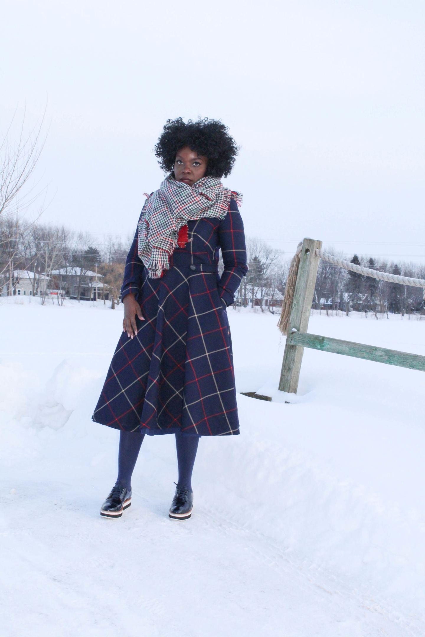 Tweed Dress in Montreal