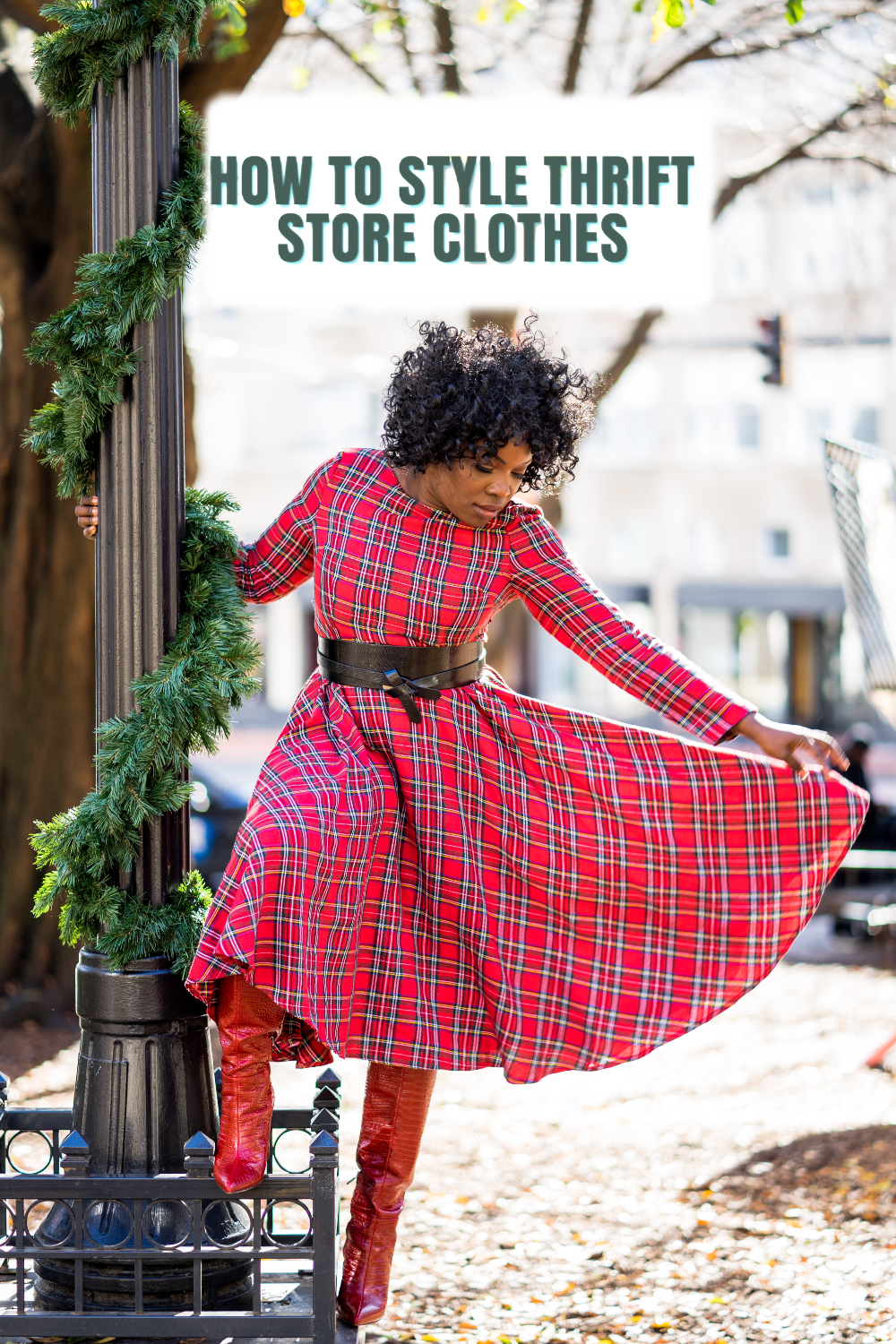 How to style thrift store clothes