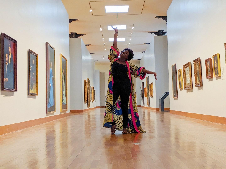 Black woman at Mali Museum in Lima Peru