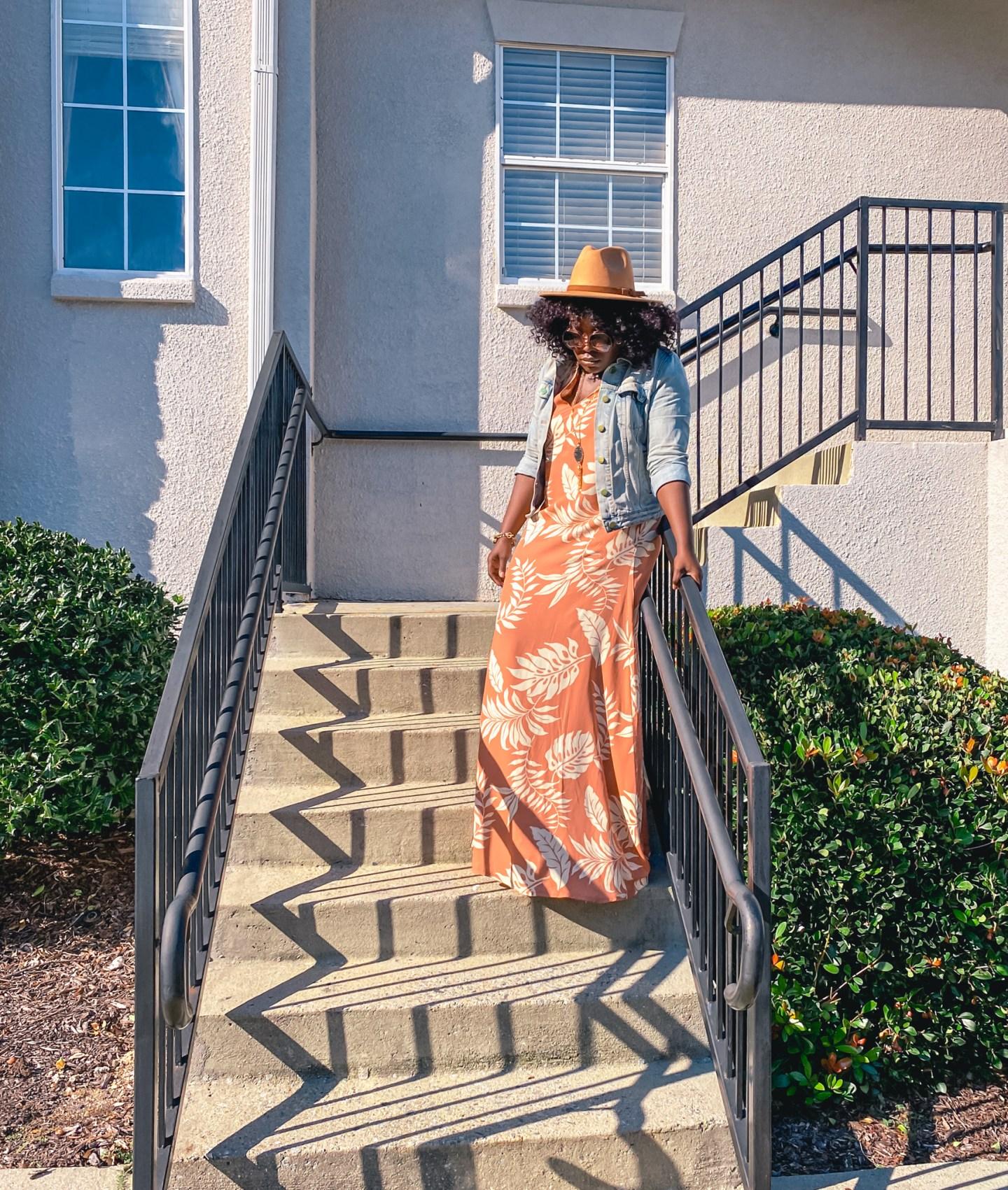YesIMadeMyDress Fedora hat with large Chloe sunglasses