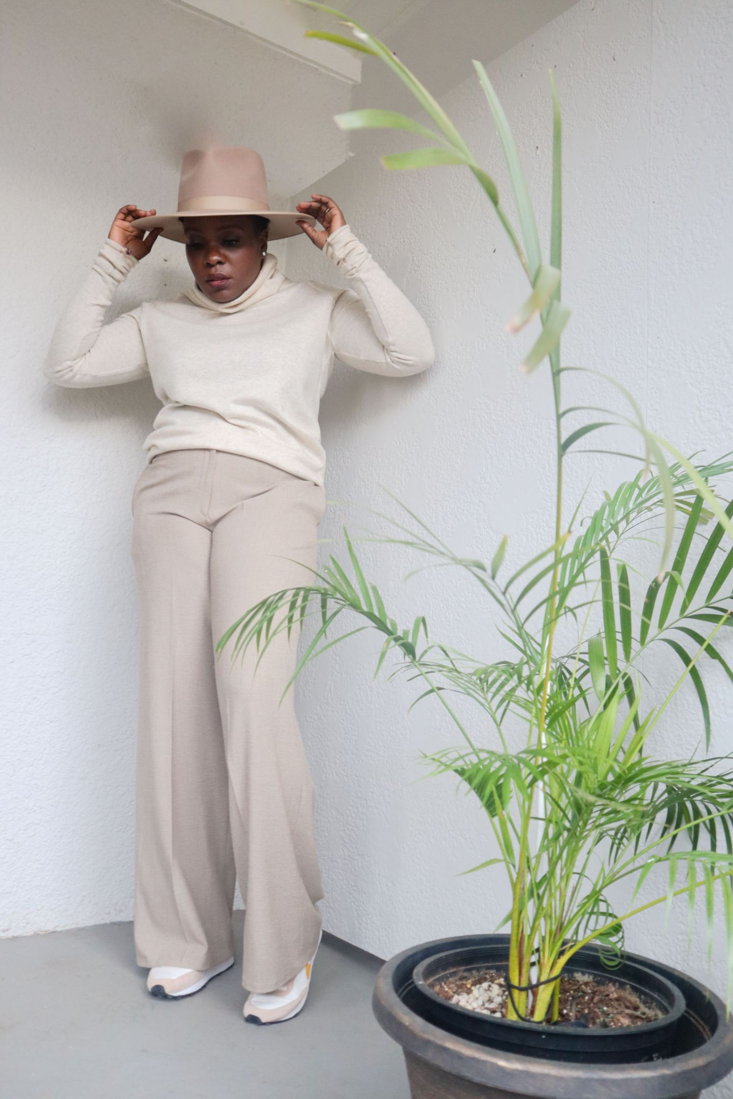 black woman in New look 6433 neutrals