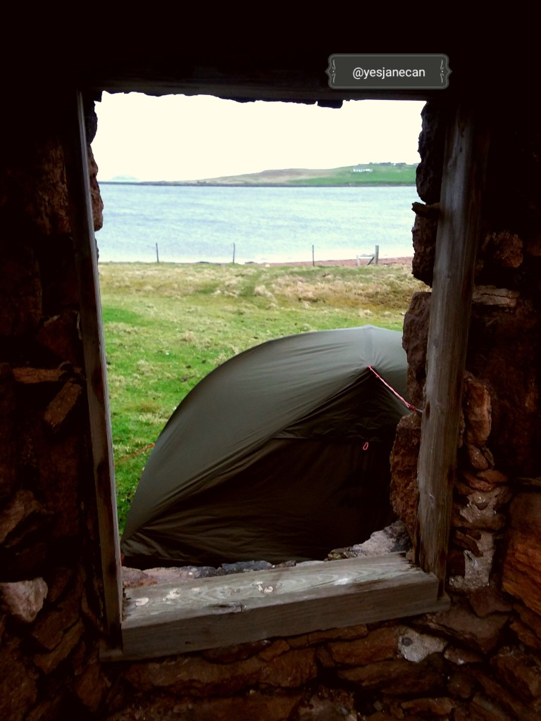 Crofter's house - wild camping in Scotland