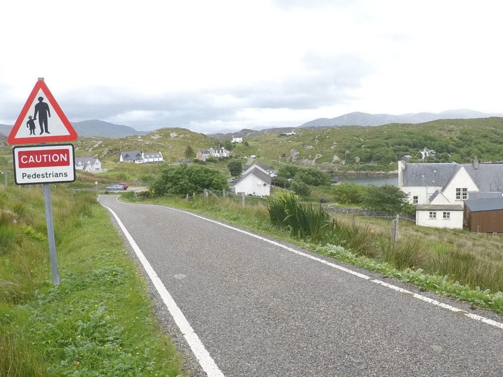 Walking the Hebridean Way - a road-walking section