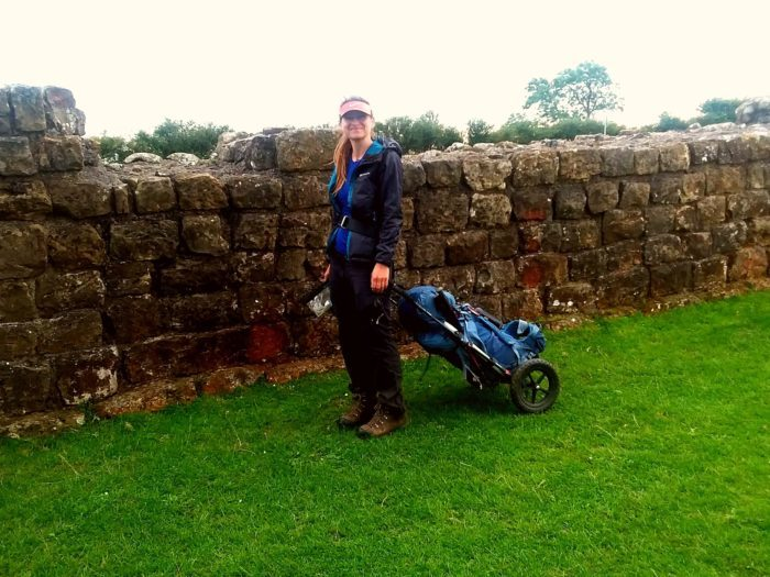 Pulling my buggy along Hadrian's Wall