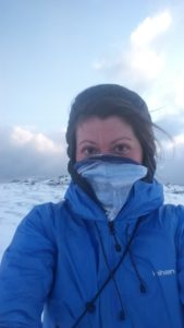 Hiking in Winter - Vaseline on Face