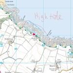 Fife coastal path high tide