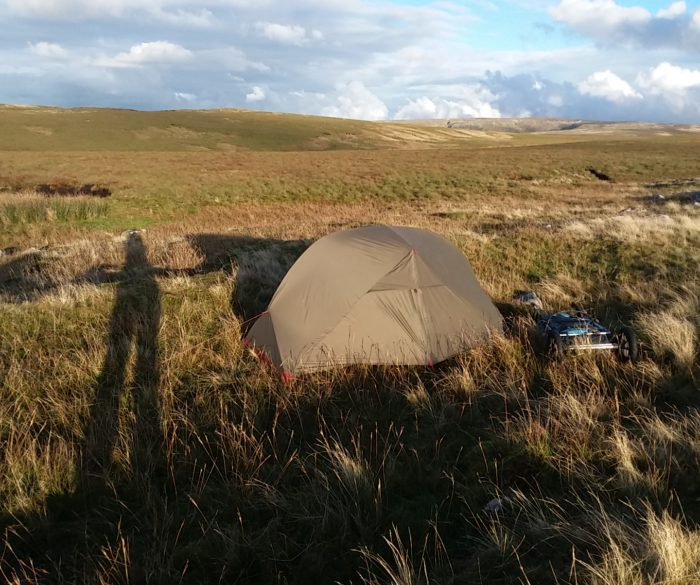 Ild camping on Slaidburn Moor