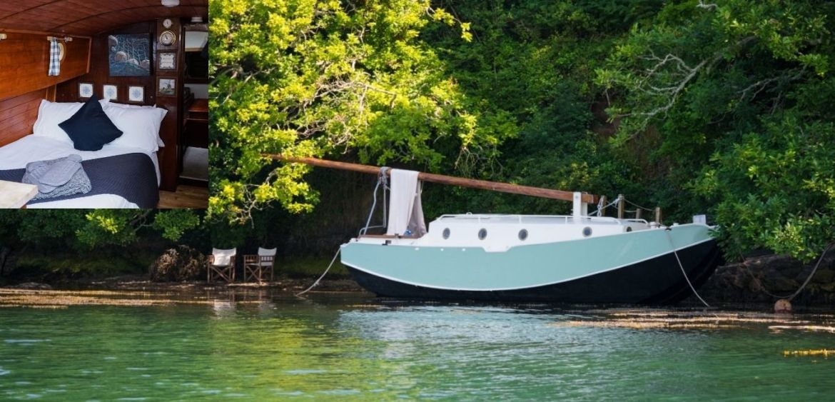 Oyster the Boat - quirky glamping breaks in UK