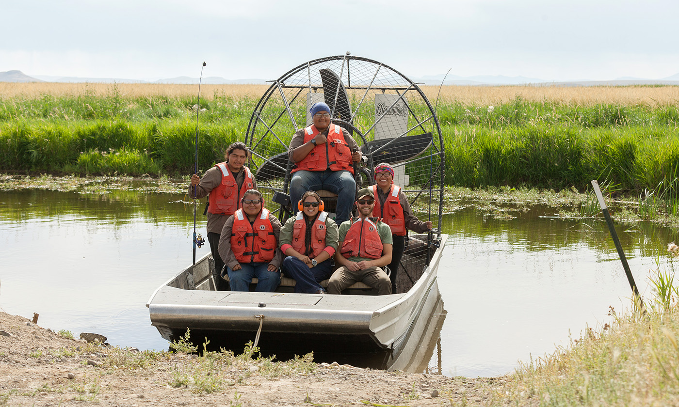 Tribal Stewards help to eradicate carp from the Malheur river.