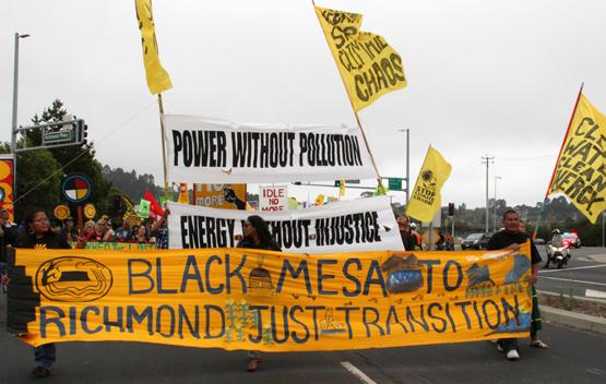 Black mesa marchers in Richmond by Peg Hunter