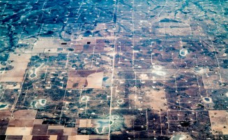 West Texas fracking wells. Photo by Dennis Dimick