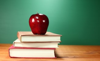 Shiny teacher's apple. Photo by Shutterstock.