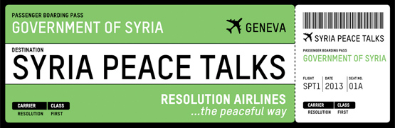 Syria Peace Talks Ticket