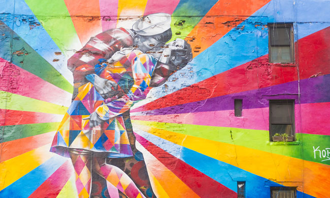 Mural in NYC Photo from Shutterstock