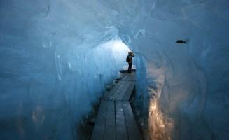 Rhône Glacier photo from Shutterstock
