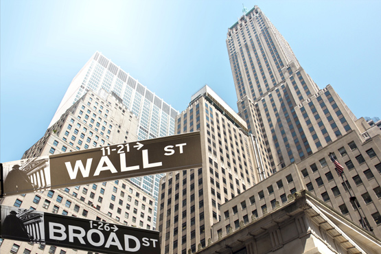 Photo of Wall Street.
