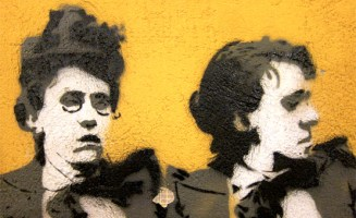 Emma Goldman street art. Photo by Dr. Case.