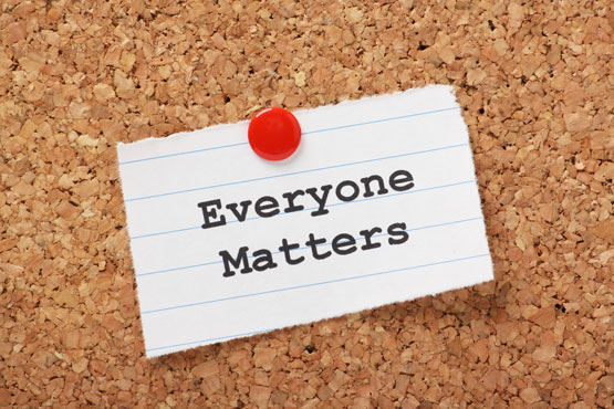 Everyone Matters photo by Shutterstock