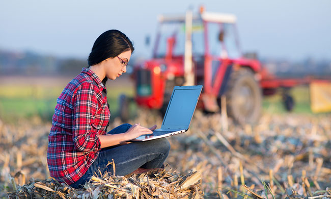 Farmer With Computer photo from iStock