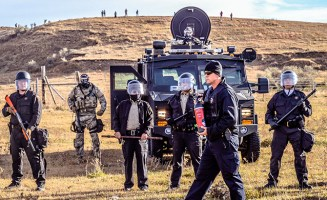 Police at Standing Rock