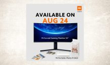 """Xiaomi Mi Curved Gaming Monitor 34"""" and Mi Portable Photo Printer launching in Malaysia on August 24"""