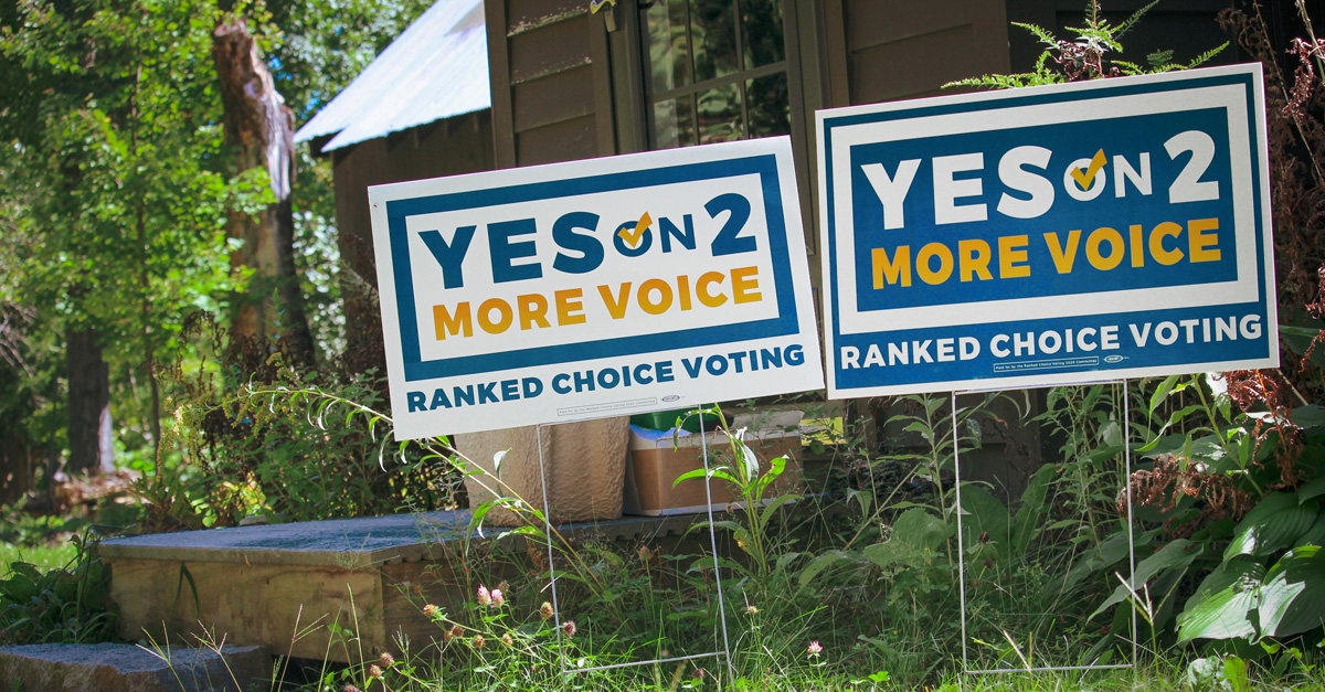 Get a Ranked Choice Voting Yard Sign