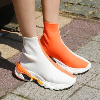DANI LOVE - Two-Tone Sock Sneakers