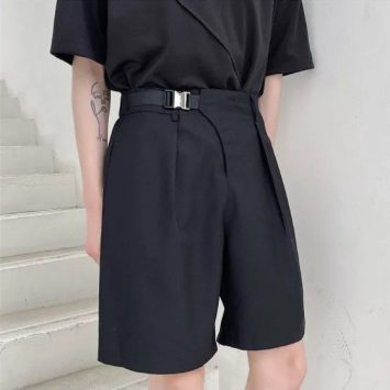 Soulcity Plain Buckled Dress Shorts e1623400864879